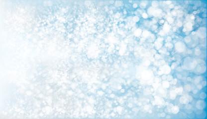 Vector blue, lights, bokeh background.