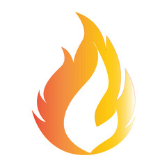 Flat color fire icon