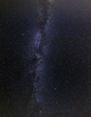 Milky Way in night sky.