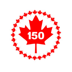 maple leaf 150 Canada graphic