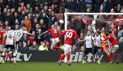 Nottingham Forest's Daniel Pinillos scores their second goal