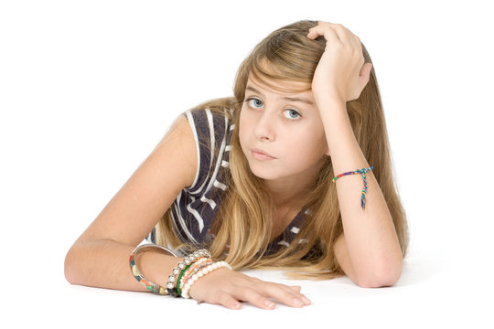 Lassitude adolescente s'ennuyant