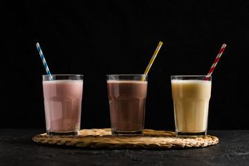 Fotobehang Milkshake Delicious Milkshakes