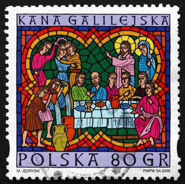 Postage stamp Poland 2000 Wedding at Cana, Christmas
