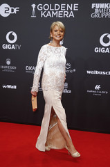 Glas poses on red carpet for Golden Camera awards ceremony in Hamburg