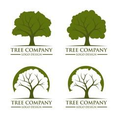 Green Tree Design Logo Vector Template