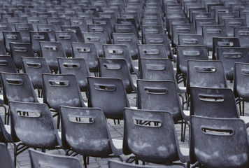 Empty chairs of auditorium