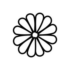 Flower blossom flat icon vector illustration design