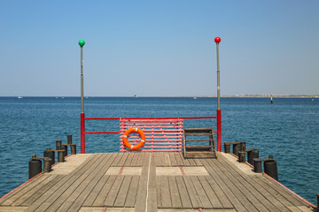 wooden pier in the summer