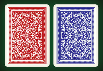 Back side design - playing cards vector illustration