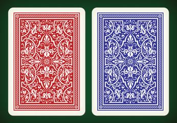 Back side design - playing cards vector illustration