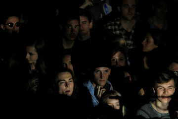 Audience members listen as Sohn performs at the Mohawk bar at the South by Southwest Music Film Interactive Festival 2017 in Austin