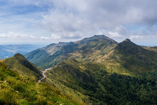 View of Puy Mary, Auvergne, France