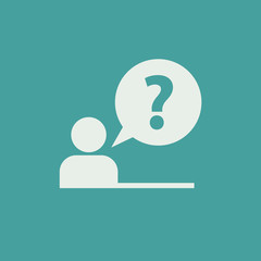 Pictogram of question mark. FAQ icon. Information exchange theme icon. Vector, flat, eps 10
