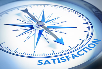 Kompass weiß Satisfaction