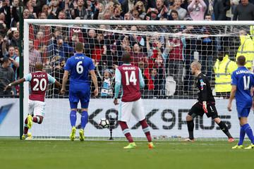 West Ham United's Manuel Lanzini scores their first goal