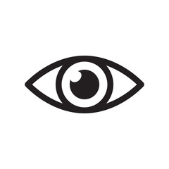 Simple eye icon vector. Eyesight pictogram in flat style.