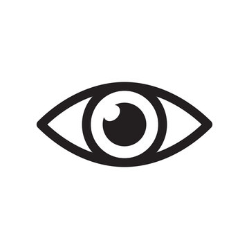 Simple eye icon vector. Eyesight pictogram in flat style.