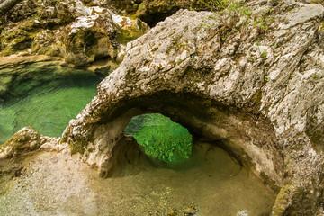 Scenic Mostnice gorge near Bohinj lake in Slovenia