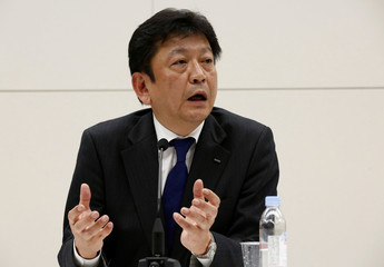 Tokyo Electric Power Co HoldingsÕ new president Tomoaki Kobayakawa speaks at a news conference in Tokyo