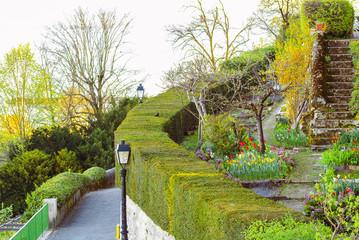 Beautiful garden, city of Nyon Switzerland