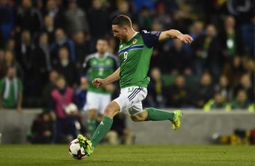 Northern Ireland's Conor Washington scores their second goal