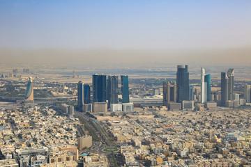 Dubai World Trade Center Downtown Luftaufnahme Luftbild