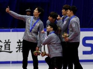 Short Track - Men's 3000 m Relay - Asian Winter Games - Makomanai, Sapporo, Japan