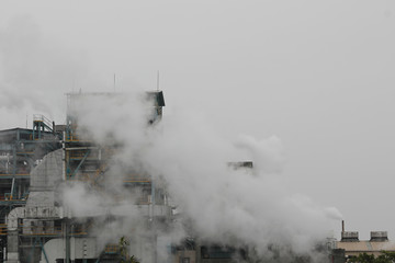 Smoke billows over a plastics factory in New Taipei City