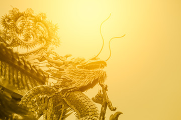 chinese golden dragon gold luxury color tone for background