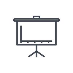 flipchart meeting line icon