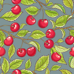 cherry vector pattern