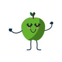Cute apple cartoon icon vector illustration graphic design