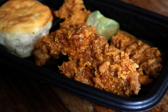 Kentucky Fried Chicken (KFC) tenders are seen in this picture illustration