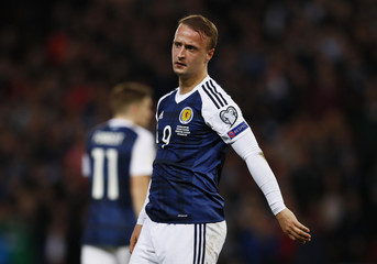 Scotland's Leigh Griffiths looks dejected after a missed chance