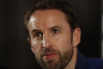 England manager Gareth Southgate during the press conference