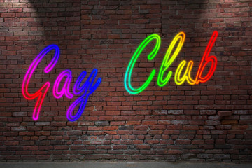 Gay Club Rainbow Neon