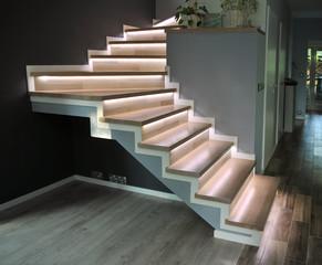 Obraz schody zabiegowe - fototapety do salonu