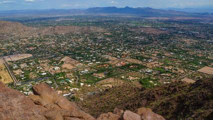 Mountain view from camelback mountain, Arizona