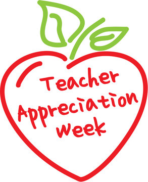 Teacher appreciation week apple heart