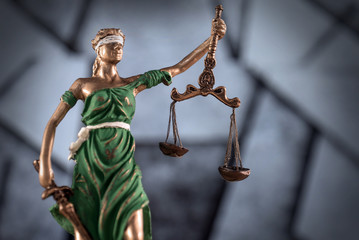 law concept on wooden desk, mallet of the judge, justice scale,, books,