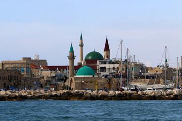 Акко старая крепость на берегу Средиземного моря  моря на севере Израиля