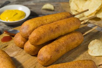 Homemade Deep Fried Corn Dogs