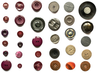 Mixed Collection of Buttons Vectors