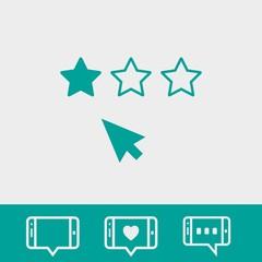 rating icon stock vector illustration flat design