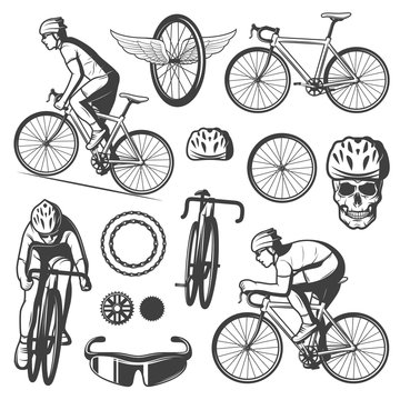 Vintage Cycling Elements Collection