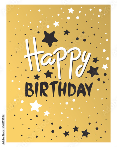 Beautiful Birthday Invitation Card Design Gold And Black