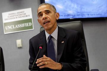 President Barack Obama talks to the media about Hurricane Matthew in Washington