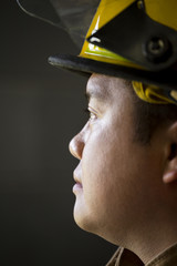 Portrait of Chinese fireman