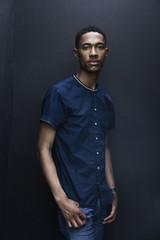 Portrait of serious Black man